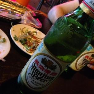 Street dinner with Till.