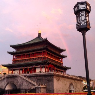 Rainbow over the Bell Tower