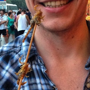 Scorpions on a stick. Because China!