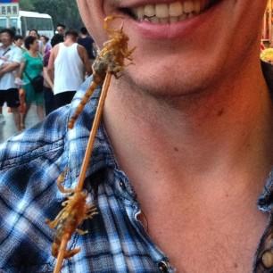 Scorpions on a stick. Because China!
