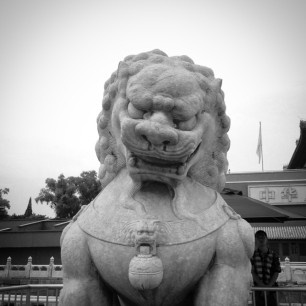 Guardian at the gates of the Forbidden City