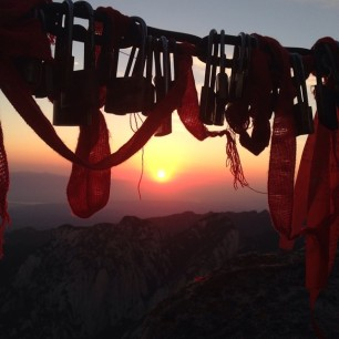 Sunrise at Huashan, China.