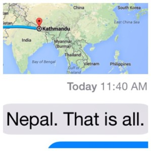 Less than 10 weeks to go until Nepal. Not that I'm counting.