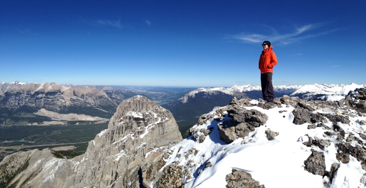 Looking out from the summit of Middle Sister