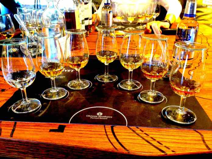 Tasting all the scotches at The Glenlivet